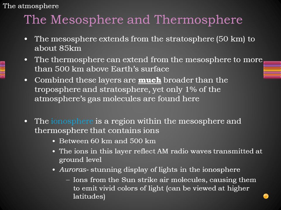 The Mesosphere and Thermosphere