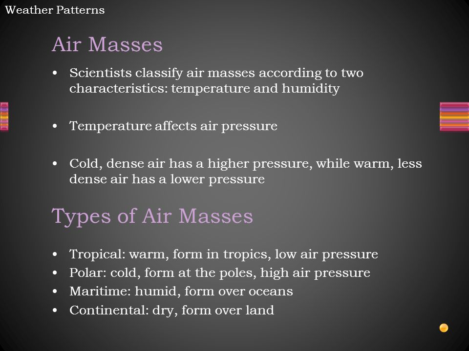 Air Masses Types of Air Masses