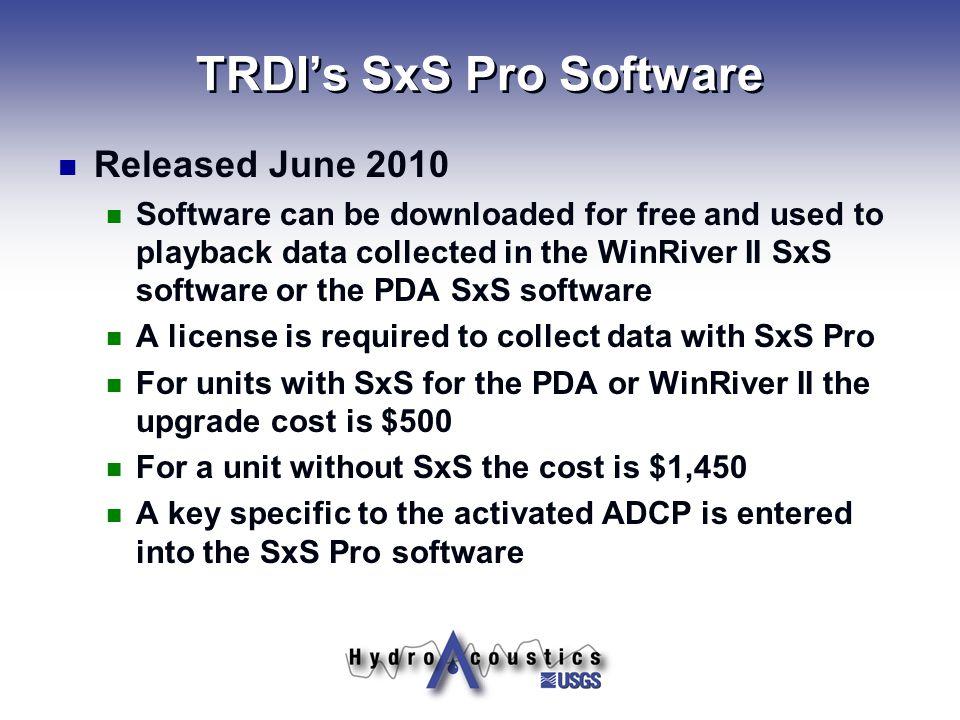 TRDI's SxS Pro Software