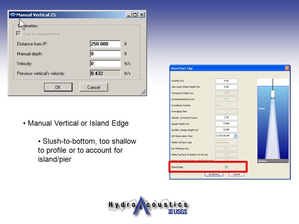 Manual Vertical or Island Edge