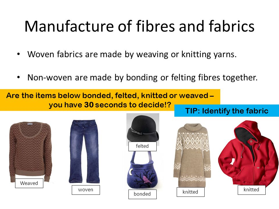 Manufacture of fibres and fabrics