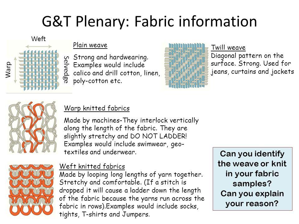 G&T Plenary: Fabric information