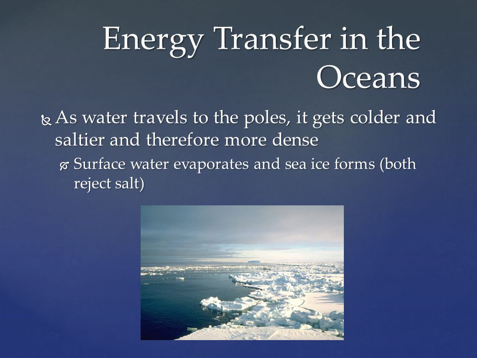 Energy Transfer in the Oceans