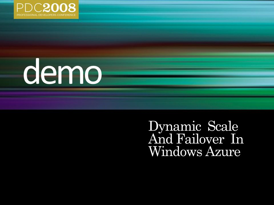 Dynamic Scale And Failover In Windows Azure