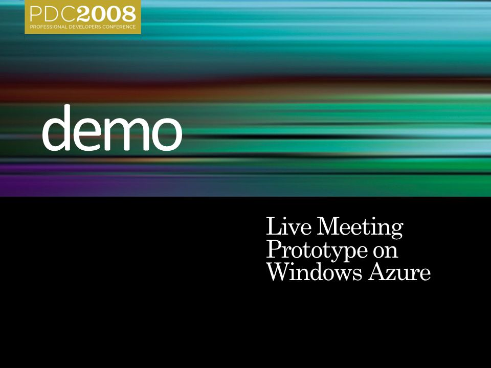 Live Meeting Prototype on Windows Azure