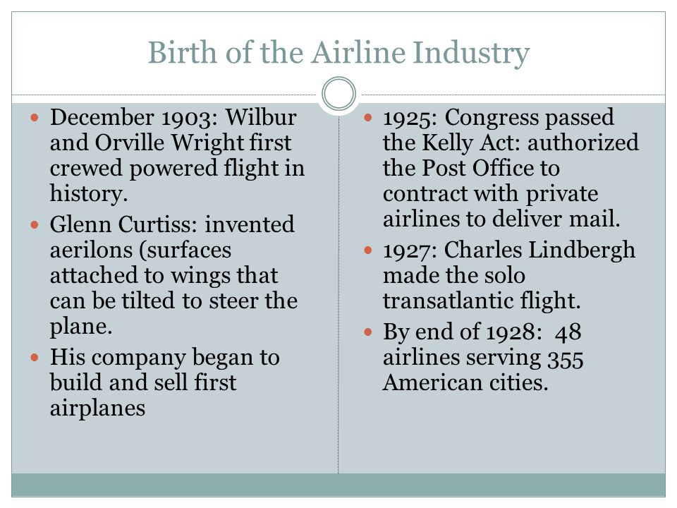 Birth of the Airline Industry