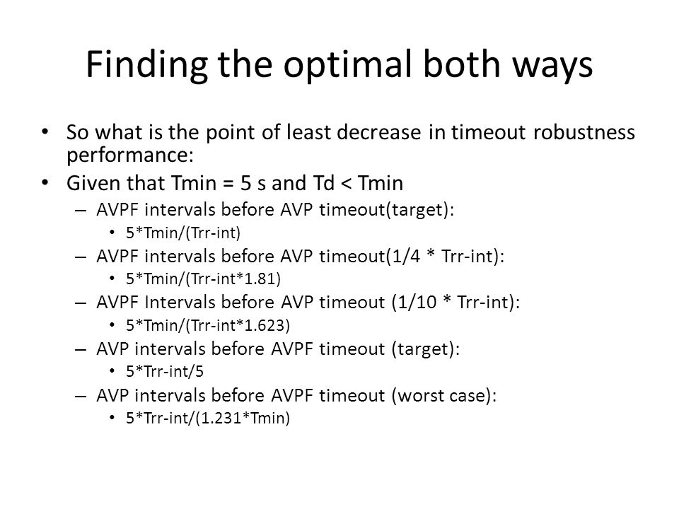 Finding the optimal both ways