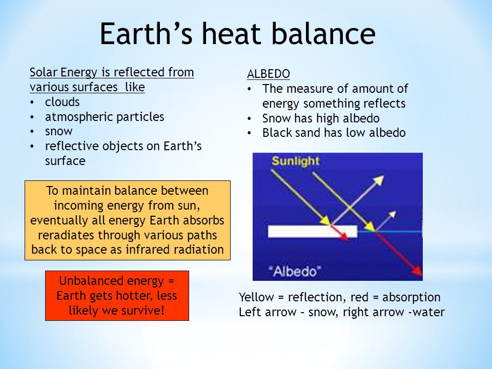 Unbalanced energy = Earth gets hotter, less likely we survive!