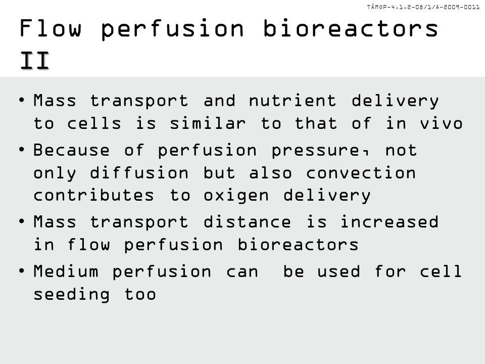 Flow perfusion bioreactors II