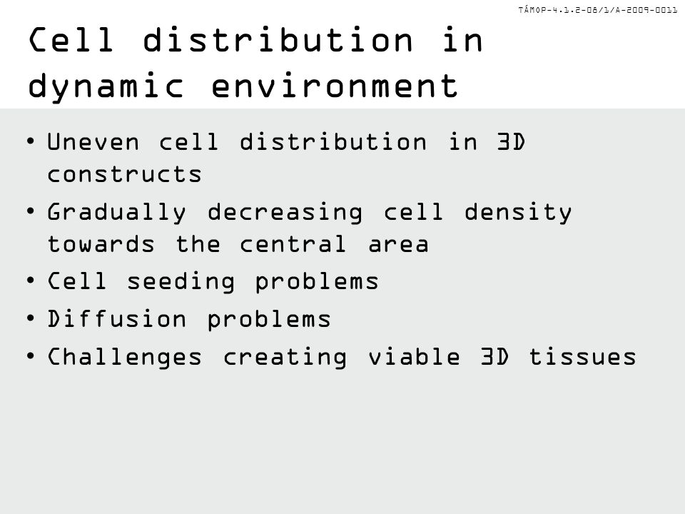 Cell distribution in dynamic environment