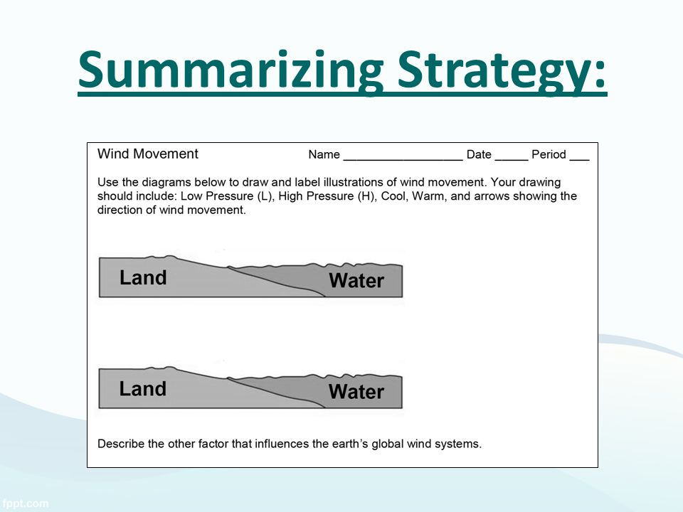 Summarizing Strategy: