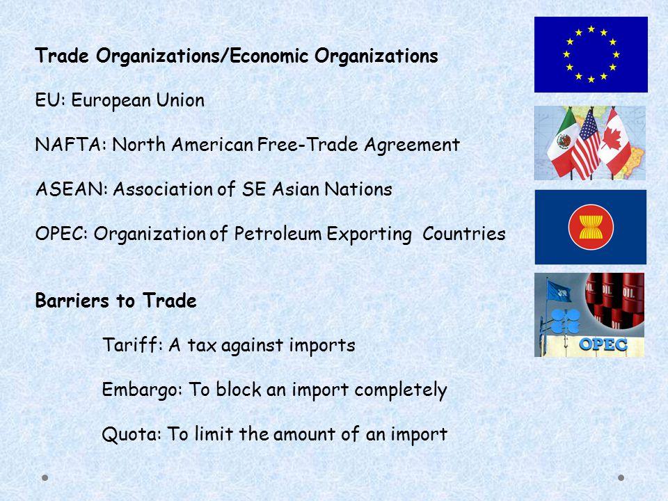 Trade Organizations/Economic Organizations