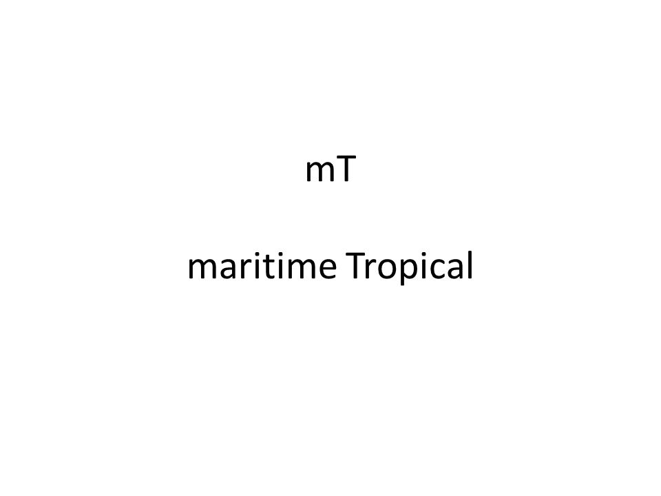 mT maritime Tropical