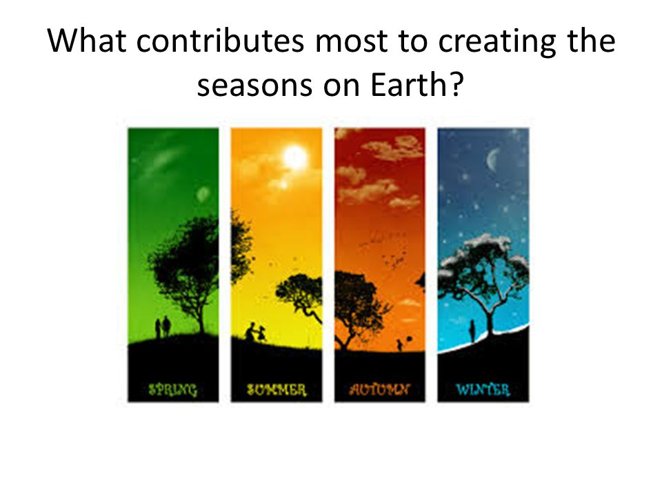 What contributes most to creating the seasons on Earth