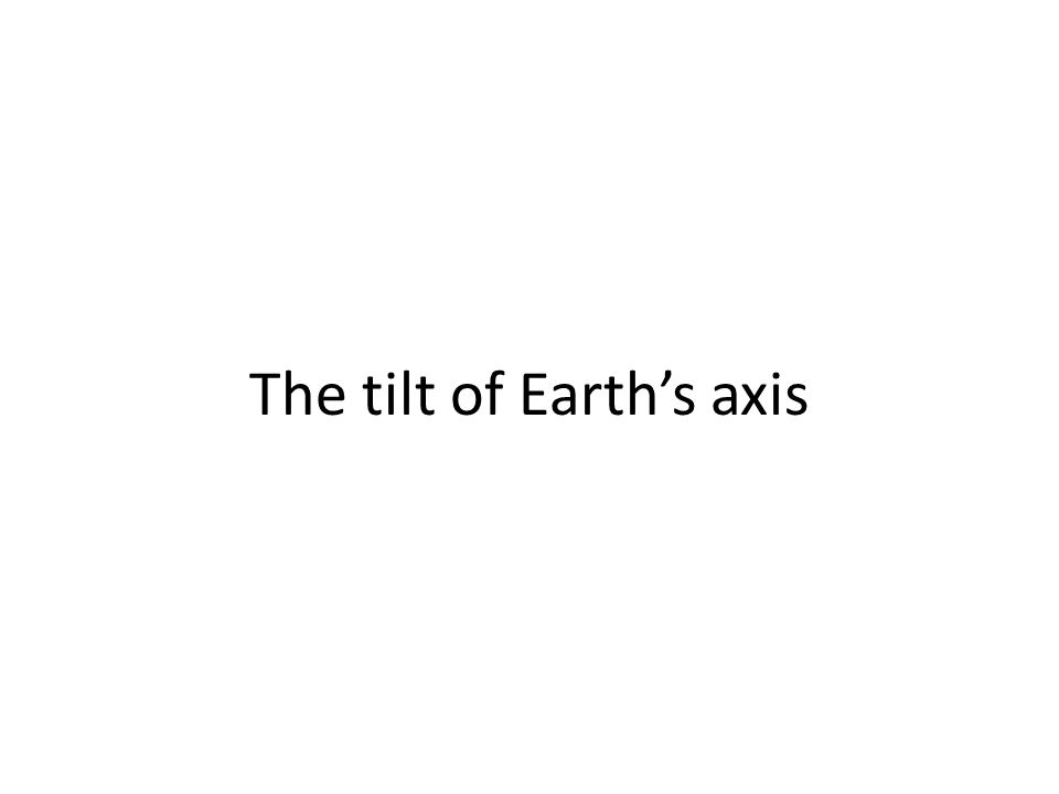 The tilt of Earth's axis