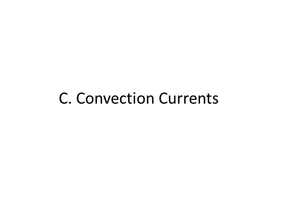 C. Convection Currents