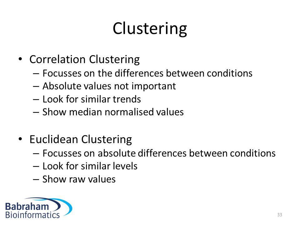 Clustering Correlation Clustering Euclidean Clustering