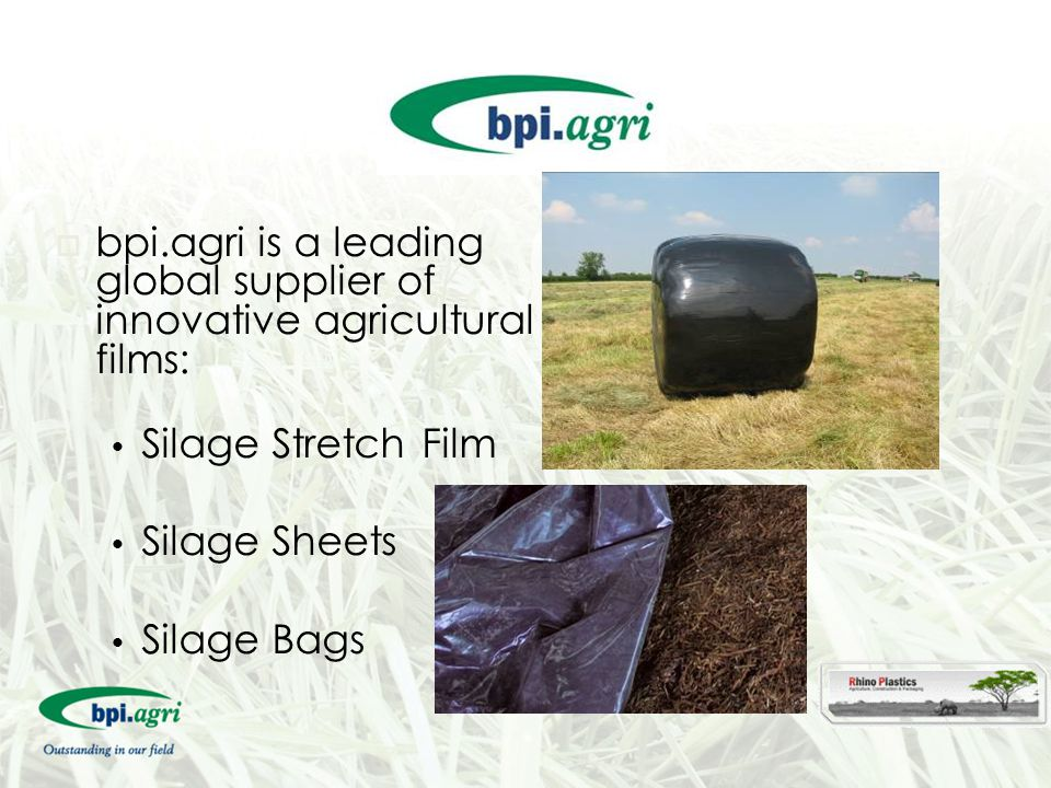 bpi.agri is a leading global supplier of innovative agricultural films: