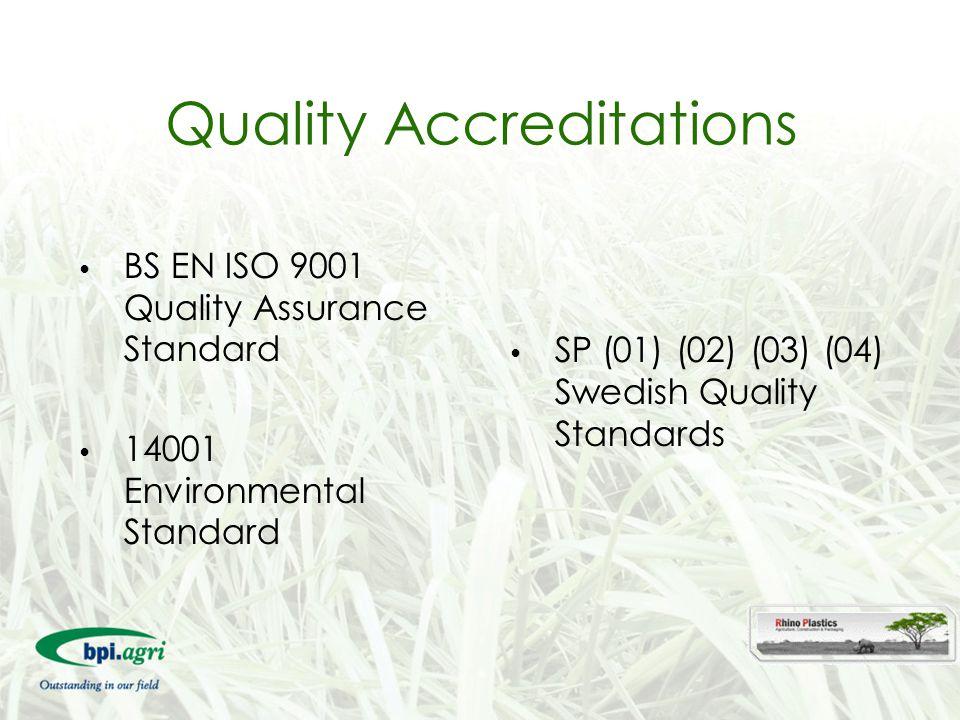 Quality Accreditations