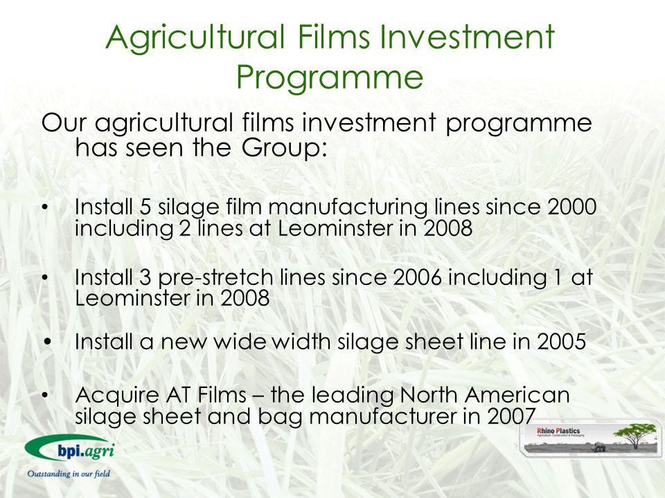 Agricultural Films Investment Programme