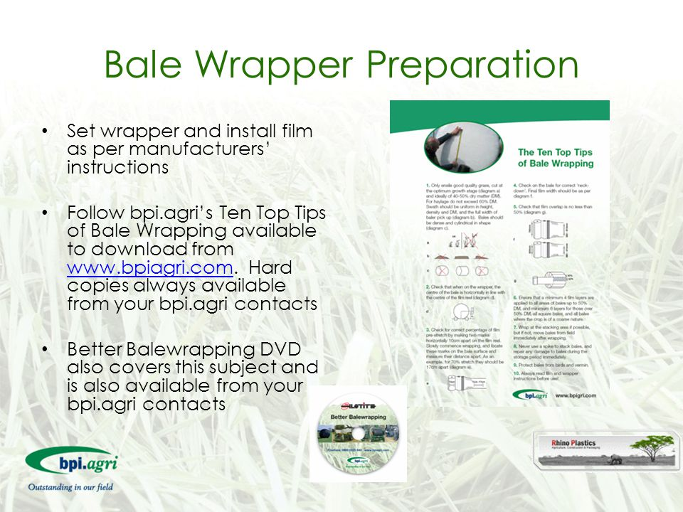 Bale Wrapper Preparation