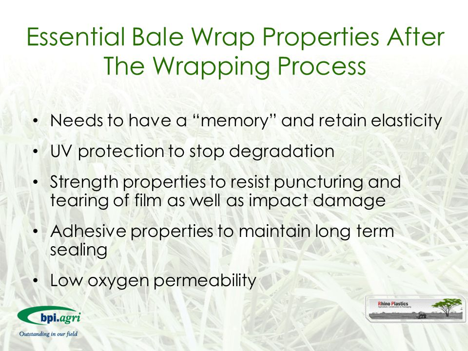 Essential Bale Wrap Properties After The Wrapping Process