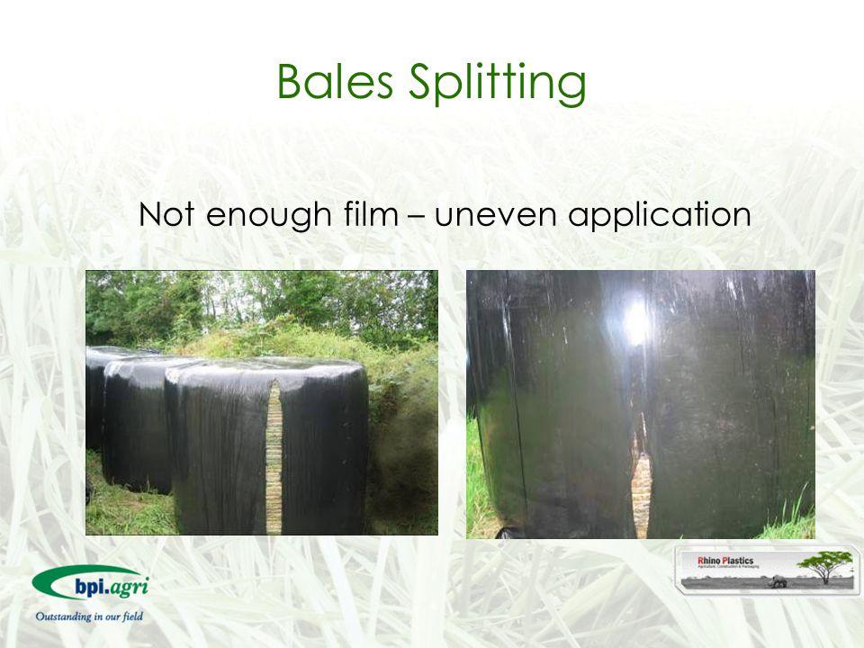 Not enough film – uneven application