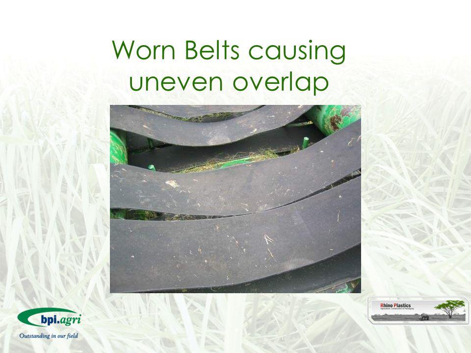 Worn Belts causing uneven overlap