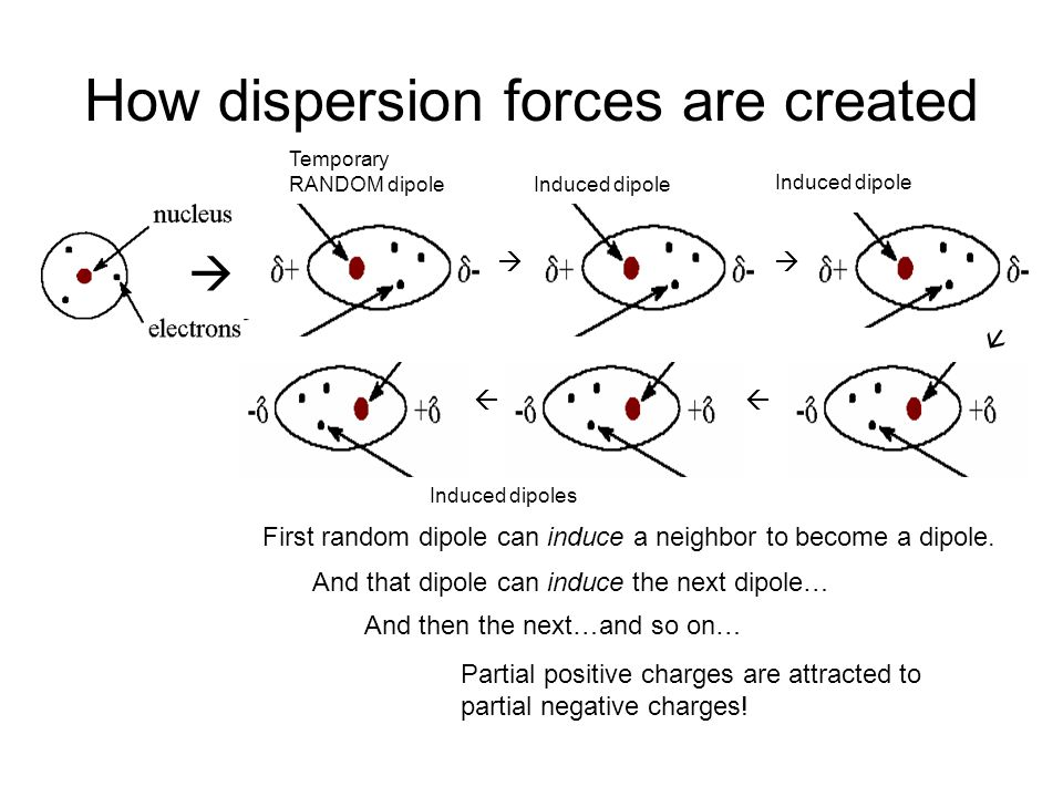 How dispersion forces are created