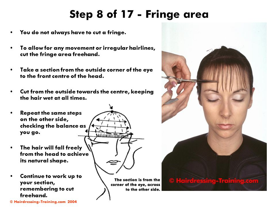 Step 8 of 17 - Fringe area You do not always have to cut a fringe.