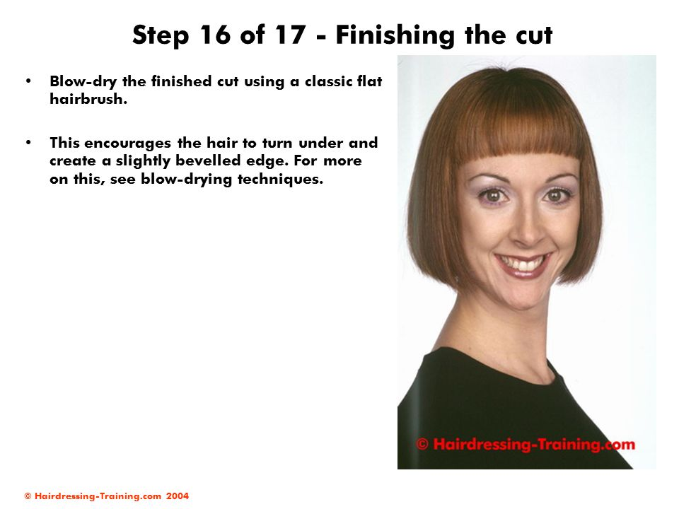 Step 16 of 17 - Finishing the cut