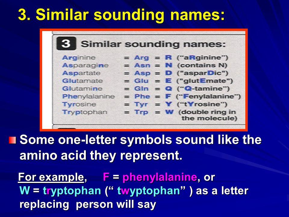 3. Similar sounding names: