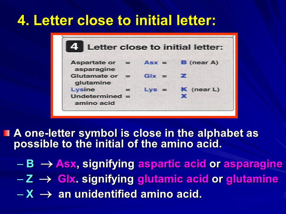4. Letter close to initial letter: