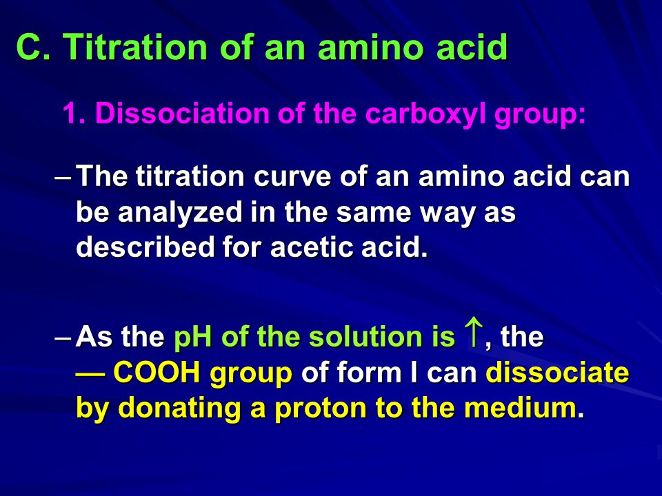 C. Titration of an amino acid
