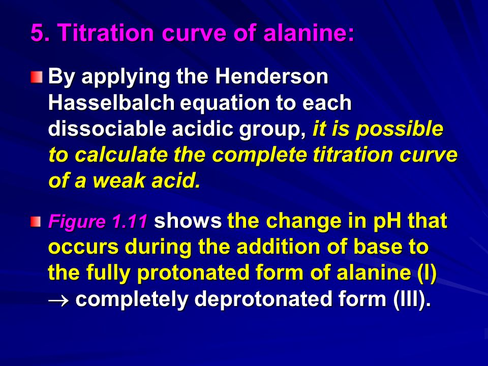5. Titration curve of alanine: