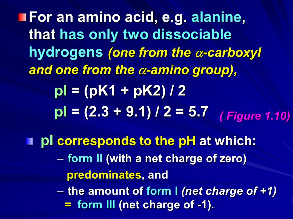For an amino acid, e.g. alanine, that has only two dissociable hydrogens (one from the -carboxyl and one from the -amino group),