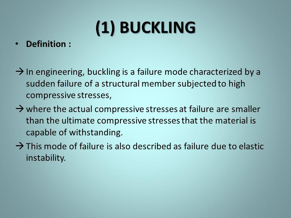 (1) BUCKLING Definition :