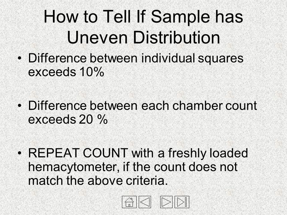 How to Tell If Sample has Uneven Distribution