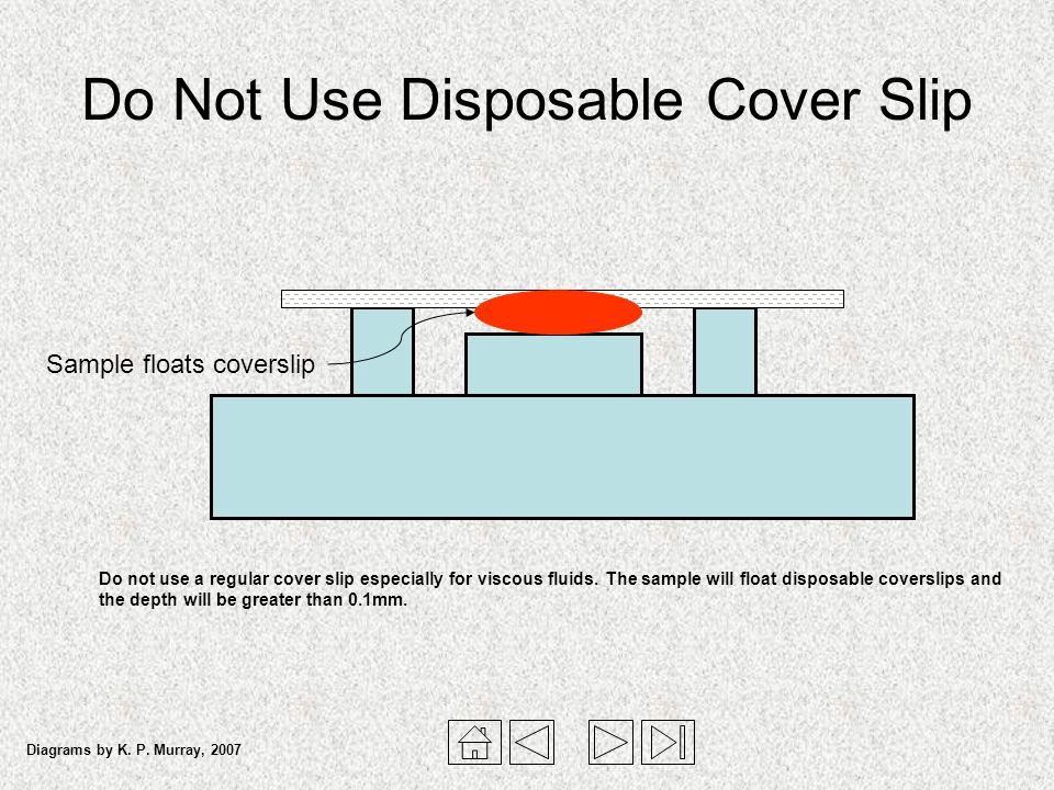 Do Not Use Disposable Cover Slip