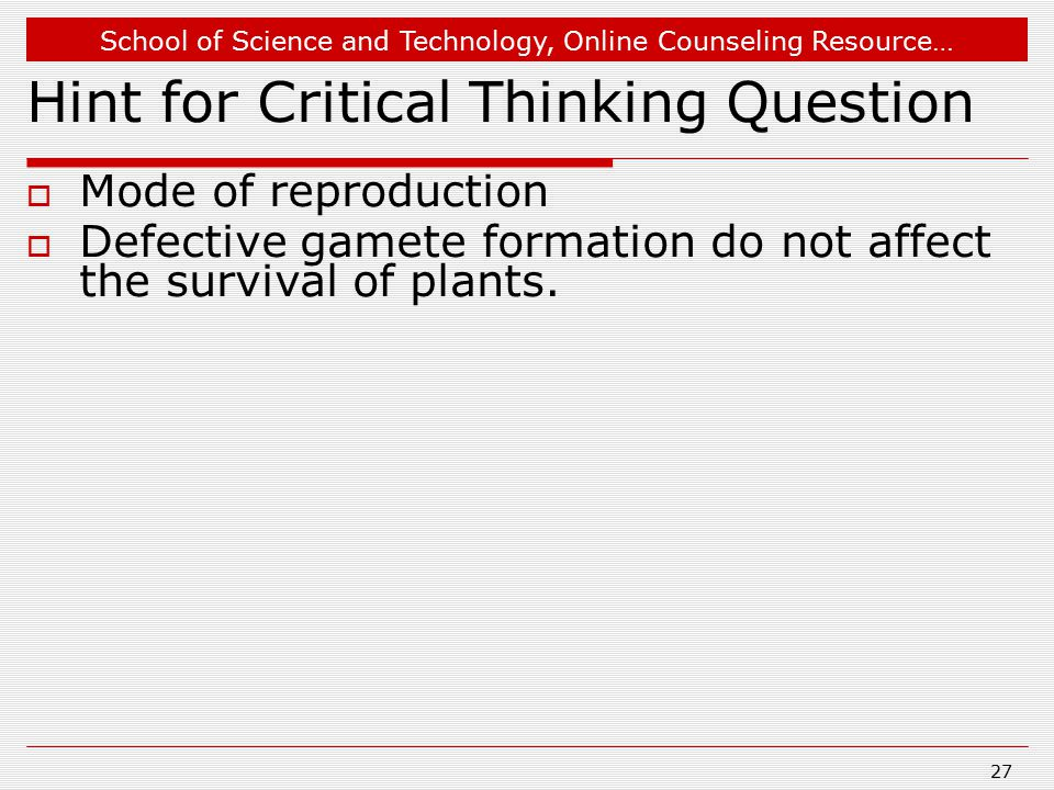 Hint for Critical Thinking Question