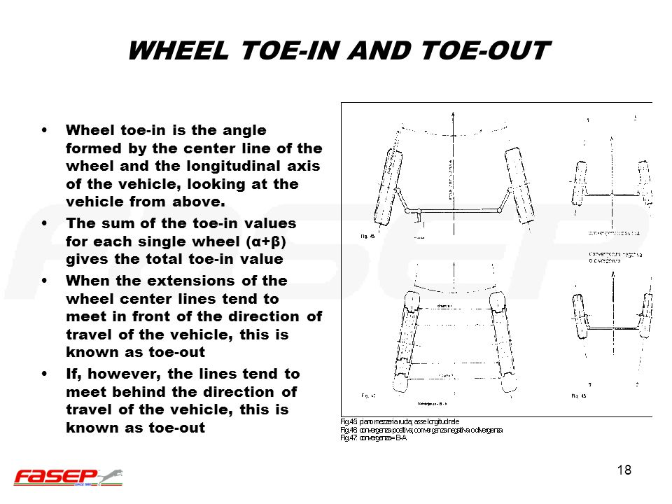 WHEEL TOE-IN AND TOE-OUT