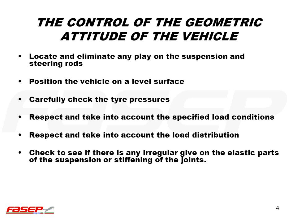 THE CONTROL OF THE GEOMETRIC ATTITUDE OF THE VEHICLE