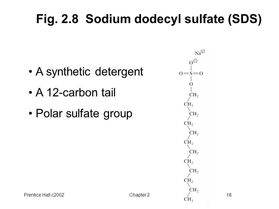 Fig. 2.8 Sodium dodecyl sulfate (SDS)