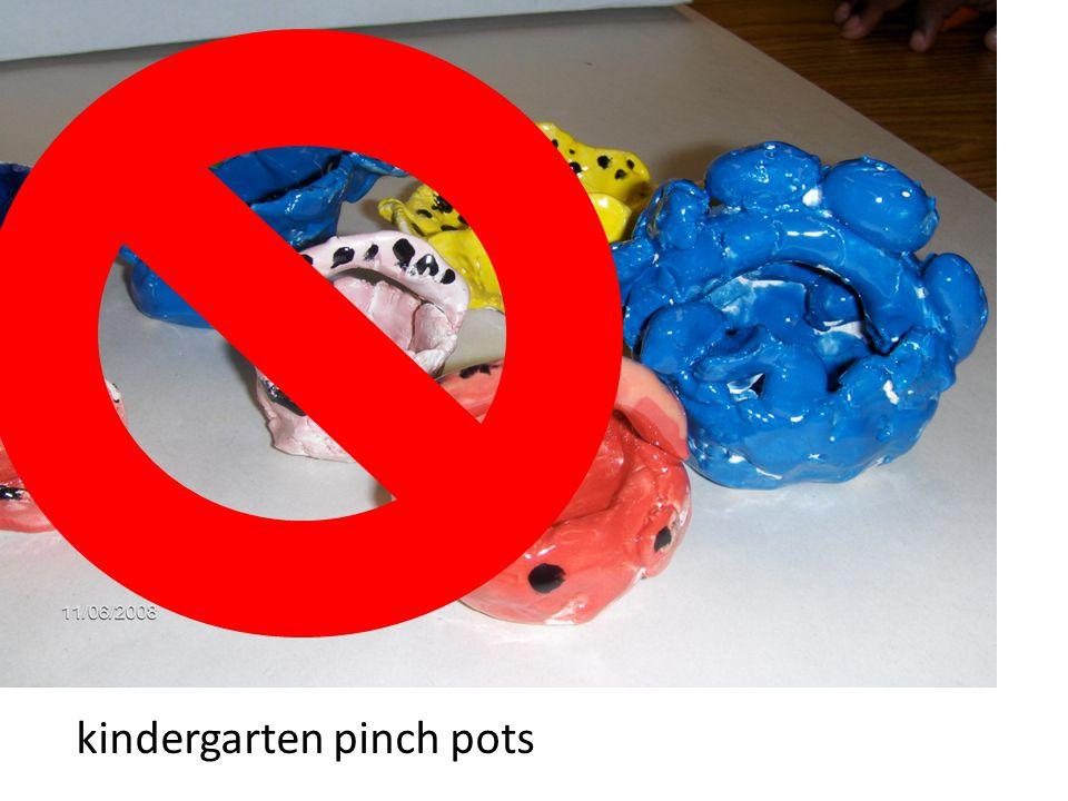 kindergarten pinch pots