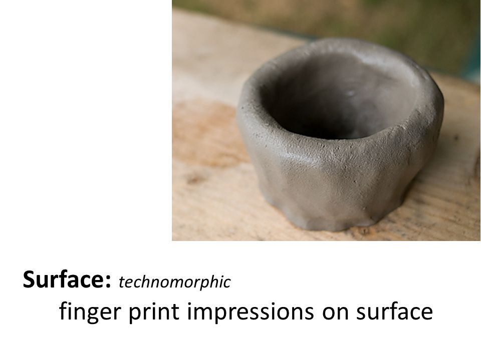 Surface: technomorphic finger print impressions on surface