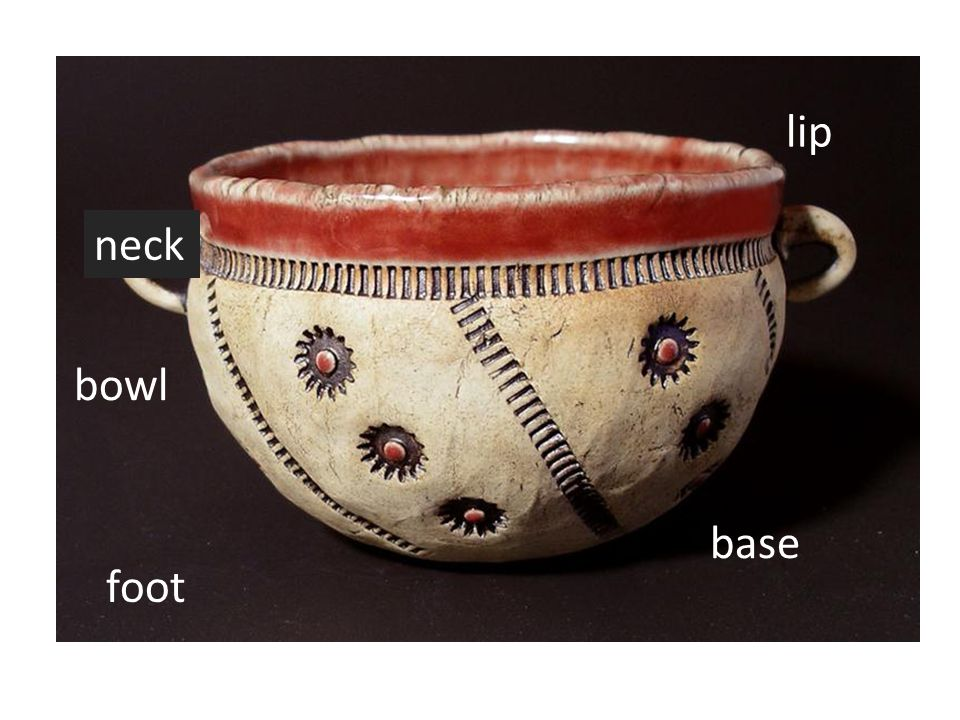 lip neck bowl base foot