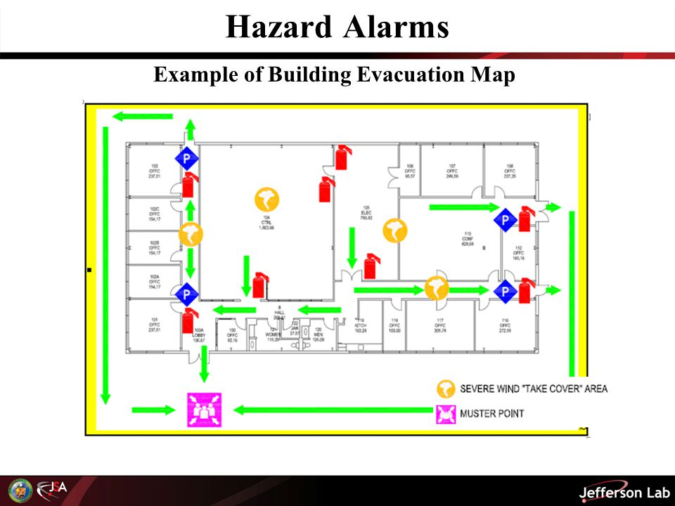 Example of Building Evacuation Map
