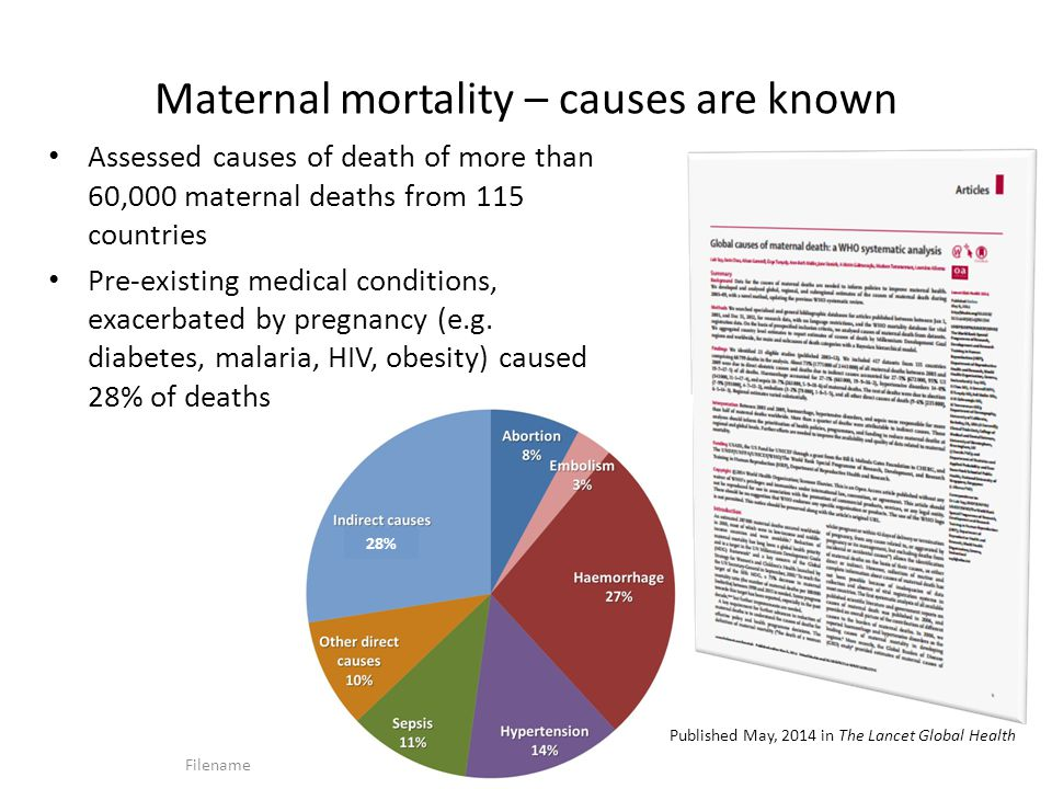 Maternal mortality – causes are known