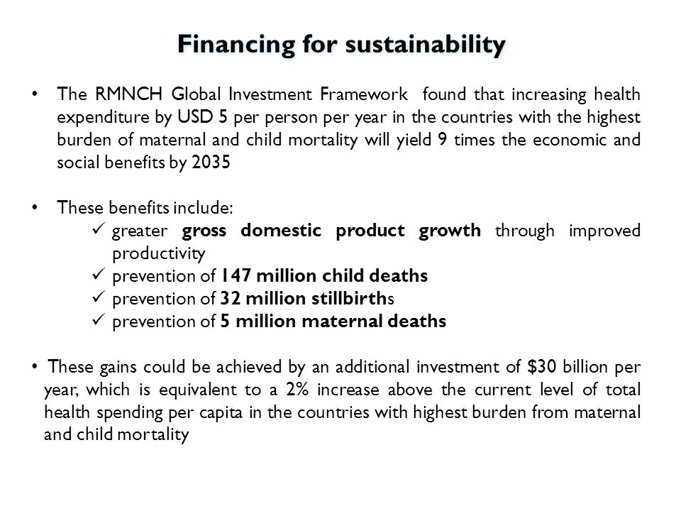 Financing for sustainability