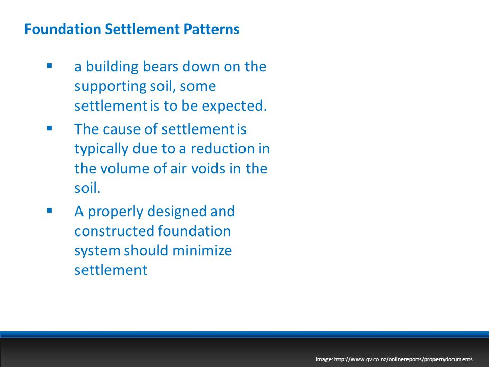 Foundation Settlement Patterns